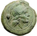 obverse:  Serie post-semilibrale Oncia, 215-212 a.C.