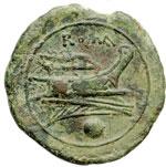 reverse:  Serie post-semilibrale Oncia, 215-212 a.C.