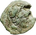 obverse:  Serie sestantale Triente, dopo il 211 a.C.