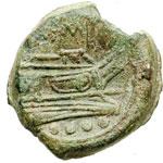 reverse:  Serie sestantale Triente, dopo il 211 a.C.