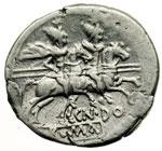 reverse:  Cn. Domitius Ahenobarbus Denario, 189-180 a.C.
