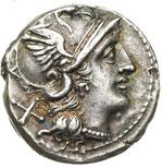 obverse:  Serie anonima. Denario, 157-156 a.C.
