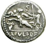 reverse:  L. Iulius L.f. Caesar Denario, 103 a.C.
