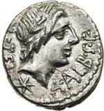 obverse:  L. Caecilius Metellus Denario, 96 a.C.