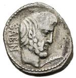 obverse:  L. Titurius L. f. Sabinus Denario, 89 a.C.