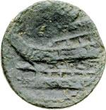reverse:  Gargilius, Ogulnius e Vergilius Asse, 86 a.C.