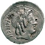 obverse:  Mn. Fonteius C.f. Denario, 85 a.C.