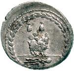 reverse:  Mn. Fonteius C.f. Denario, 85 a.C.
