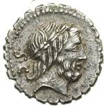 obverse:  Q. Antonius Balbus Denario, 83-82 a.C.
