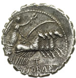 reverse:  Q. Antonius Balbus Denario, 83-82 a.C.