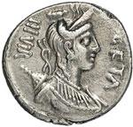 obverse:  C. Hosidius C. f. Geta Denario, 68 a.C.