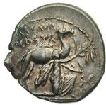 obverse:  M. Aemilius Scaurus e Pub. Plautius Hypsaeus Denario, 58 a.C.