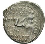 reverse:  M. Aemilius Scaurus e Pub. Plautius Hypsaeus Denario, 58 a.C.