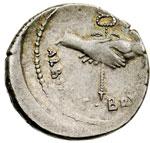 reverse:  Albinus Bruti f. Denario, 48 a.C.