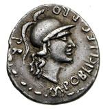 obverse:  Pompeo Magno Denario, 46-45 a.C.