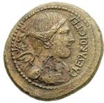 obverse:  Giulio Cesare AE 30 mm. 45 a.C. Zecca incerta dell Italia settentrionale.
