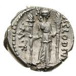 reverse:  P. Clodius M. f. Turrinus Denario, 42 a.C.