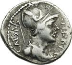 obverse:  Ottaviano. Denario, 42 a.C.