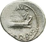 obverse:  Marco Antonio Denario, 32-31 a.C.