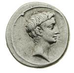 obverse:  Augusto (27 a.C - 14 d.C) Denario.