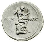 reverse:  Augusto (27 a.C - 14 d.C) Denario.
