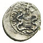 reverse:  Augusto (27 a.C-14 d.C) Quinario, 28 a.C.