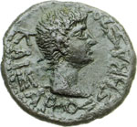 obverse:  Augusto (27 a.C-14 d.C) AE 17 mm. Tracia.
