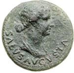 obverse:  Livia, moglie di Augusto (deceduta nel 29 d.C.) Dupondio.