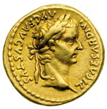 obverse:  Tiberio (14-37) Aureo.