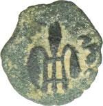 reverse:  Tiberio (14-37 d.C.). Prutah, AE 16 mm. Palestina. Procuratore Ponzio Pilato, 29 d.C.