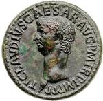 obverse:  Claudio (41-54) Dupondio.