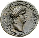 obverse:  Nerone (54-68) Dupondio.