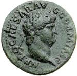 obverse:  Nerone (54-68) Asse.