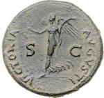 reverse:  Nerone (54 68). Dupondio, zecca balcanica.