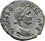 reverse:  Vespasiano (69-79) Denario, Filippi (?).