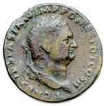 obverse:  Tito Cesare (69-79) Sesterzio. Roma, 72 d.C.