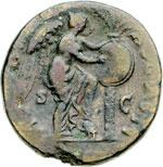 reverse:  Tito Cesare (69-79) Sesterzio. Roma, 72 d.C.