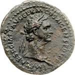 obverse:  Domiziano (81-96). Asse