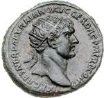 obverse:  Traiano (98-117) Dupondio.