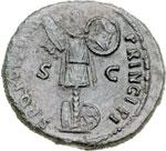 reverse:  Traiano (98-117) Dupondio.