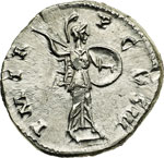 reverse:  Adriano (117-138) Denario.