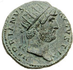 obverse:  Adriano (117-138) Dupondio