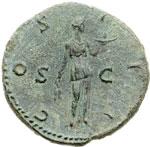 reverse:  Adriano (117-138) Dupondio
