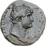 obverse:  Adriano (117-138) Dupondio.