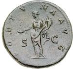 reverse:  Adriano (117-138) Sesterzio.