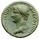 obverse: Impero Romano. Adriano (117-138). Sesterzio.