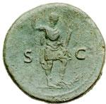 reverse: Impero Romano. Adriano (117-138). Sesterzio.