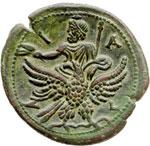 reverse:  Adriano (117-138) Dracma, Alexandria, Agitto.