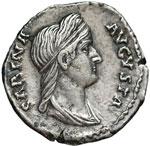 obverse:  Sabina, moglie di Adriano (deceduta nel 137 d.C) Denario.