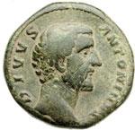 obverse:  Antonino Pio (138-161). Sesterzio
